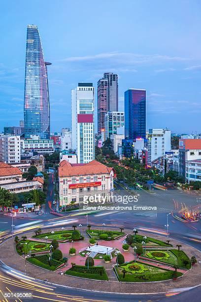 Ho Chi Minh City skyline at sunset, Vietnam