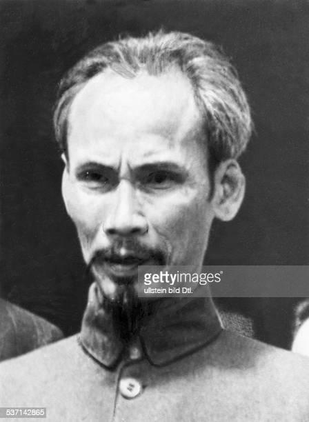 Ho Chi Minh Politiker Vietnam Premierminister 19451955 Praesident 19551969 Portrait undatiert