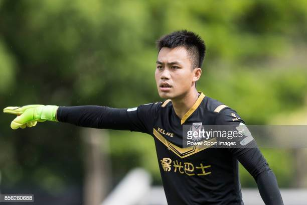 Ho Ka Chan of Sun Bus Yeun Long gestures during the Hong Kong Premier League Week 4 match between BC Rangers vs Sun Bus Yuen Long at the Sham Shui Po...