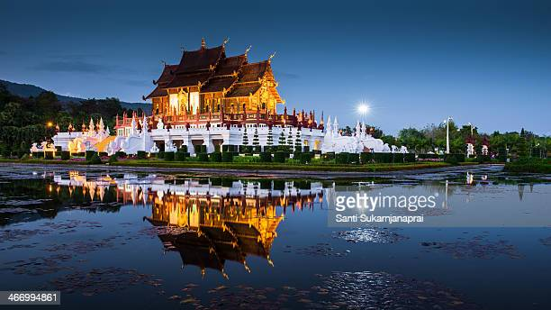 CONTENT] Ho Kham Royal Pavilion This building featured Lanna architecture the architectural style of northern Thailand inside visitors saw pictures...