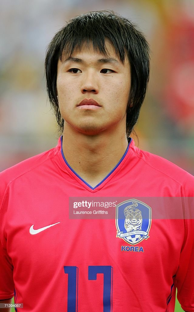 Ho Lee of South Korea lines up prior to the FIFA World Cup Germany 2006 Group G match between South Korea and Togo at the Stadium Frankfurt on June 13, 2006 in Frankfurt, Germany.