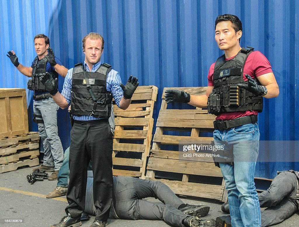 'Hoa Pili' -- When the threats turn deadly against a tour company that has been endangering the local shark population, Five-0 faces the difficult task of narrowing down the suspect list. Meanwhile the team (from left to right: Alex O'™Loughlin;Scott Caan, Daniel Dae Kim) debates whether or not Kamekona will earn his helicopter license, on HAWAII FIVE-0, Monday, March 25 (10:00-11:00 PM, ET/PT) on the CBS Television Network.