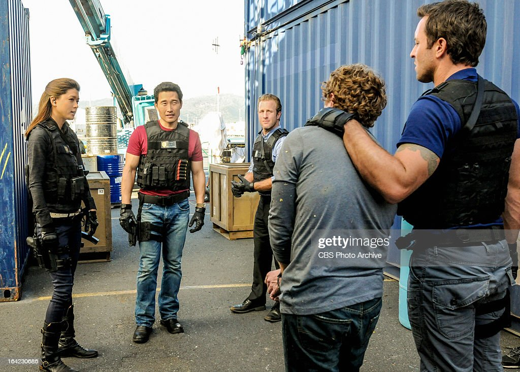 'Hoa Pili' -- When the threats turn deadly against a tour company that has been endangering the local shark population, Five-0 (from left to right: Grace Park, Daniel Dae Kim, Scott Caan, and Alex O'Loughlin, far right) face the difficult task of narrowing down the suspect list, on HAWAII FIVE-0, Monday, March 25 (10:00-11:00 PM, ET/PT) on the CBS Television Network.