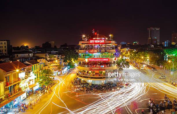 CONTENT] Hoan Kiem Lake area The busy touristic center with plenty of shops and cafes restaurants Hanoi capital of Vietnam SouthEast Asia