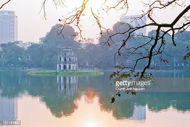 Hoan Kiem lake at sunrise