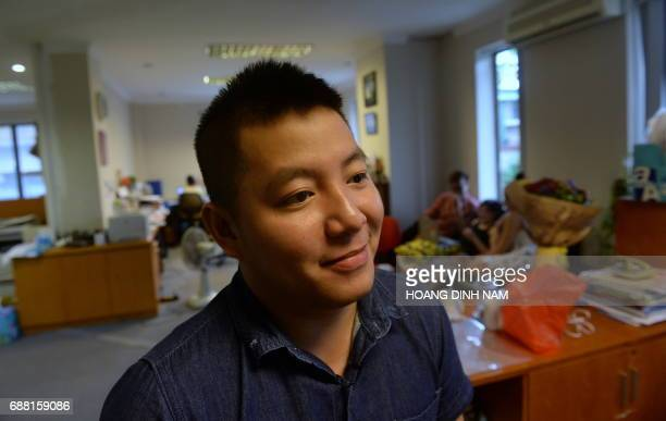 Hoang Giang Son a 22yearold gay speaks during an interview with AFP about Taiwan's gay marriage ruling in Hanoi on May 25 2017 Taiwan's giant step...