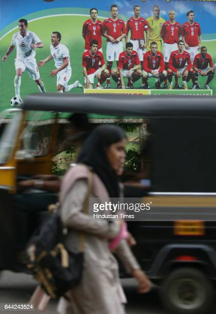 Hoardings are seen on the roads in Ninanvalappua small hamlet on the outskirst of Kozhikode city