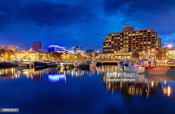 Hobart Harbour Sullivans Cove at night