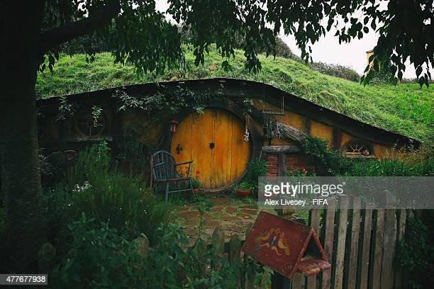 A Hobbit hole is seen at the Hobbiton Movie Set where Lord of the Rings and The Hobbit trilogies were filmed during the FIFA U20 World Cup on June 19...