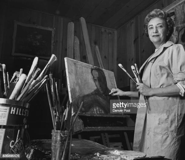 Hobby Turned Business Mrs Moses Katz of 6115 E 6th Ave applies a deft touch to a portrait she is working on in her home studio A painter for more...