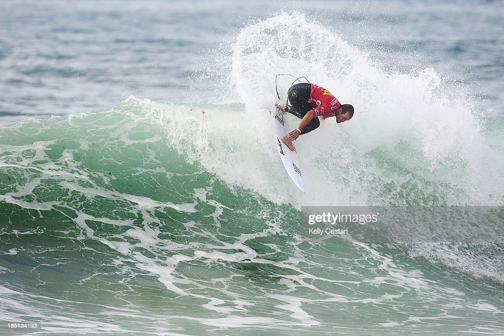 CJ Hobgood of the United States placed equal 5th at the RipCurl Pro Portugal on October 17, 2013 in Peniche, Portugal.