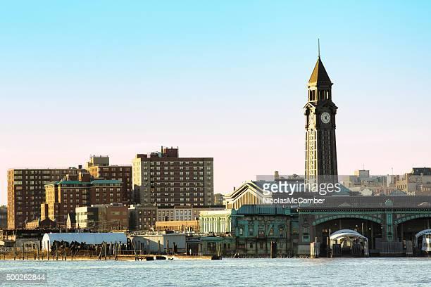 Hoboken terminal from Hudson river