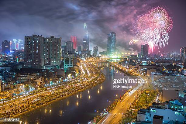 HochiMinh city in new year night