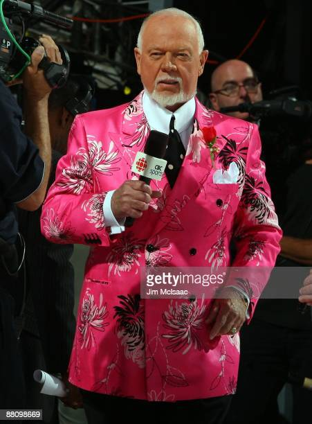 Hockey analyst Don Cherry reports prior tp the the Pittsburgh Penguins playing the Detroit Red Wings during Game Two of the 2009 Stanley Cup Finals...