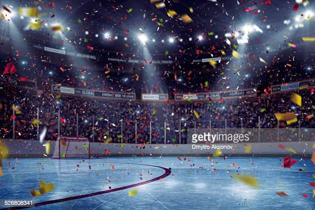 Hockey arena celebration opening