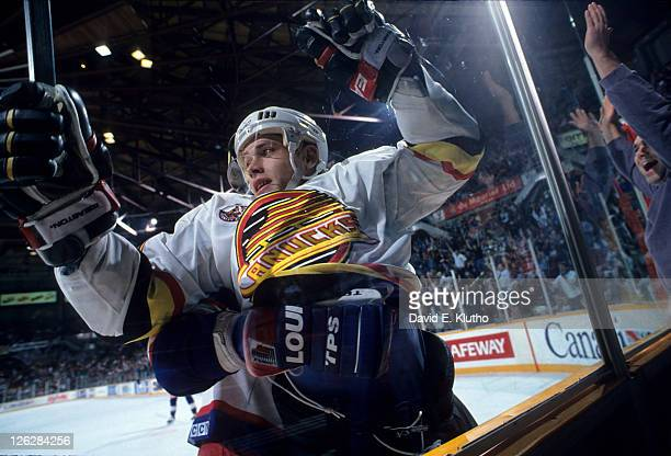 Closeup of Vancouver Canucks Pavel Bure in action vs Winnepeg Jets at Pacific Coliseum Vancouver Canada 11/8/1992 CREDIT David E Klutho