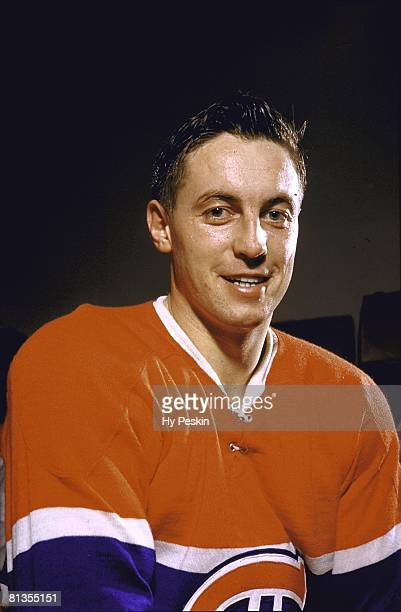 Hockey Closeup portrait of Montreal Canadiens Jean Beliveau Montreal CAN