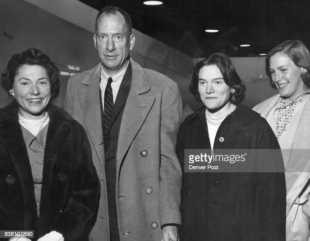 Hockey fans who attended a recent game at the University of Denver arena were Mrs Gerald Hughes Phipps and their daughters Marta a student at Miss...