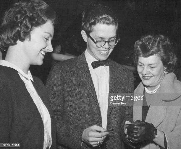 Hockey games are a family affair and one of Denver's family groups likely to be on hand are the DeniousesJoan Bill and Mrs Dayton Denious Credit...