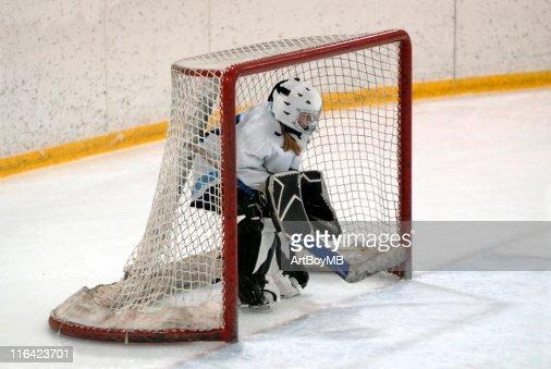 Hockey Goalie : Stock Photo