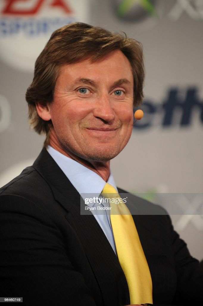 Hockey Hall of Famer Wayne Gretzky attends the Gillette EA SPORTS Champions of Gaming Global Finals at ARENA Event Space on April 14 2010 in New York...