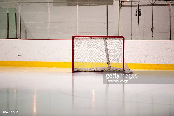 hockey ice goal net, patinoire