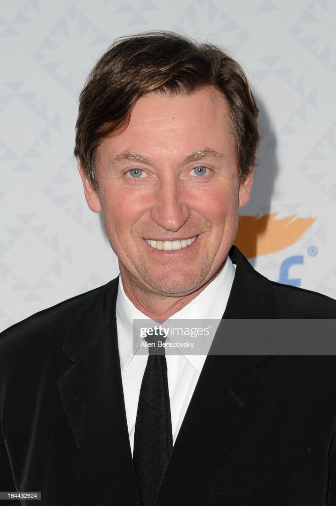Hockey legend <a gi-track='captionPersonalityLinkClicked' href=/galleries/search?phrase=Wayne+Gretzky+-+Ice+Hockey+Player&family=editorial&specificpeople=157520 ng-click='$event.stopPropagation()'>Wayne Gretzky</a> attends the 10th annual Alfred Mann Foundation Gala at 9900 Wilshire Blvd on October 13, 2013 in Beverly Hills, California.