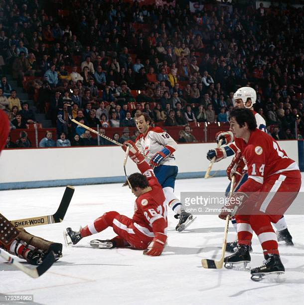 Montreal Canadiens Guy LaFleur in action vs Washington Capitals at Montreal Forum Montreal Canada 1/23/1977 CREDIT John G Zimmerman