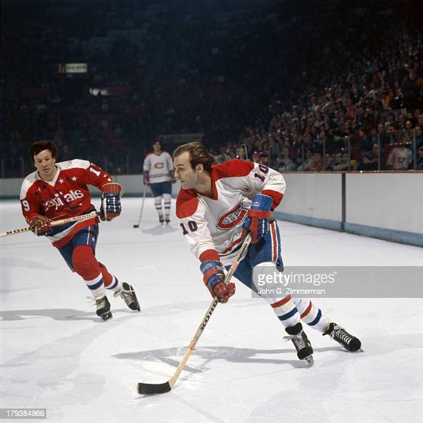 Montreal Canadiens Guy LaFleur in action vs Washington Capitals at Montreal Forum Cover Montreal Canada 1/23/1977 CREDIT John G Zimmerman