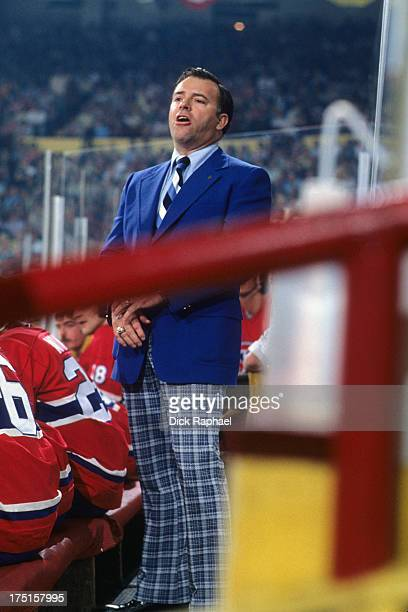 NHL Finals Montreal Canadiens coach Scotty Bowman during game vs Boston Bruins at Boston Garden Game 3 Boston MA CREDIT Dick Raphael
