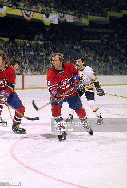 NHL Finals Montreal Canadiens Guy LaFleur in action vs Boston Bruins at Boston Garden Game 4 Boston MA CREDIT Dick Raphael