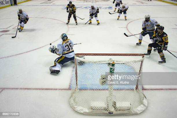 NHL Finals Nashville Predators goalie Pekka Rinne in action vs Pittsburgh Penguins at PPG Paints Arena Game 5 Pittsburgh PA CREDIT David E Klutho