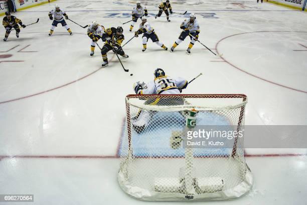 NHL Finals Nashville Predators goalie Pekka Rinne in action vs Pittsburgh Penguins Sydney Crosby at PPG Paints Arena Game 5 Pittsburgh PA CREDIT...