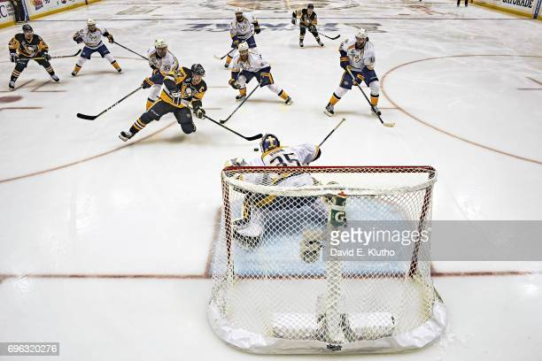 NHL Finals Nashville Predators goalie Pekka Rinne in action vs Pittsburgh Penguins Sydney Crosby at PPG Paints Arena Game 5 Pittsburgh PA CREDIT...