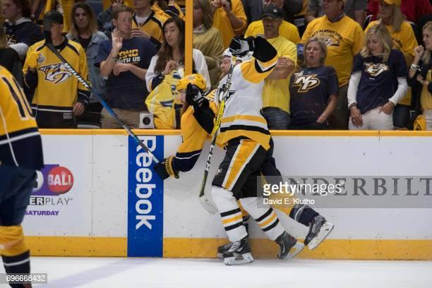 NHL Finals Pittsburgh Penguins Patric Hornqvist in action vs Nashville Predators at Bridgestone Arena Game 4 Nashville TN CREDIT David E Klutho