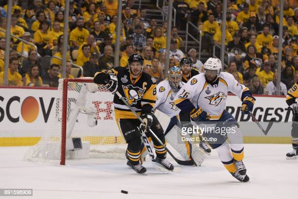 NHL Finals Pittsburgh Penguins Sidney Crosby in action vs Nashville Predators PK Subban at PPG Paints Arena Game 2 Pittsburgh PA CREDIT David E Klutho