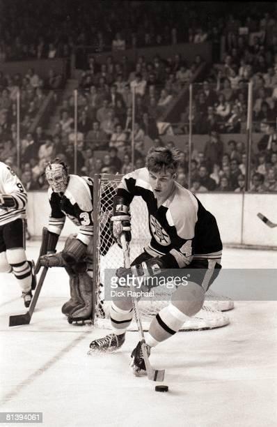 Hockey NHL Playoffs Boston Bruins Bobby Orr in action vs Chicago Blackhawks Boston MA 4/23/1970