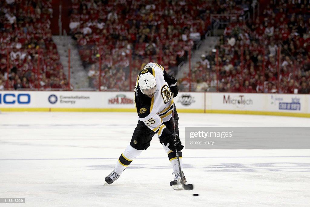 Boston Bruins Johnny Boychuk (55) in action vs Washington Capitals at Verizon Center. Game 6. Simon Bruty F40 )