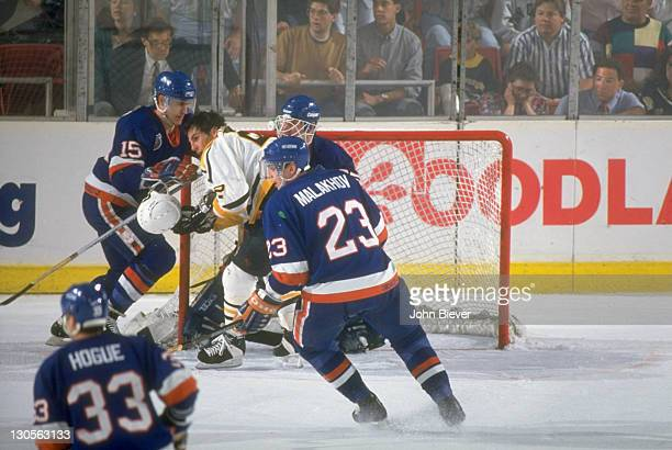NHL Playoffs Pittsburgh Penguins Rick Tocchet in action vs New York Islanders at the Civic Arena Game 7 Pittsburgh PA CREDIT John Biever
