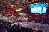 NHL Playoffs View of fans in stands before New York Rangers vs Tampa Bay Lightning game at Madison Square Garden Game 7 New York NY 5/29/2015 CREDIT...