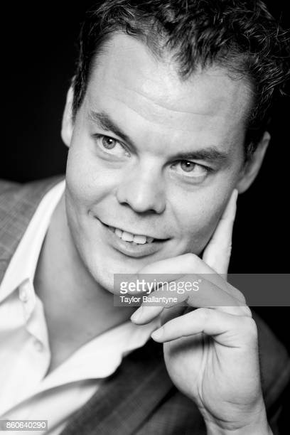 NHL Season Preview Closeup portrait of Boston Bruins Tuukka Rask posing during photo shoot at league headquarters at 1185 6th Avenue New York NY...