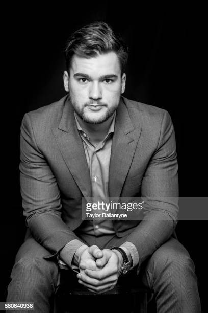 NHL Season Preview Closeup portrait of Montreal Canadiens Jonathan Drouin posing during photo shoot at league headquarters at 1185 6th Avenue New...