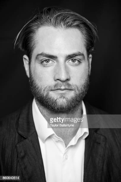 NHL Season Preview Closeup portrait of Washington Capitals Braden Holtby posing during photo shoot at league headquarters at 1185 6th Avenue New York...
