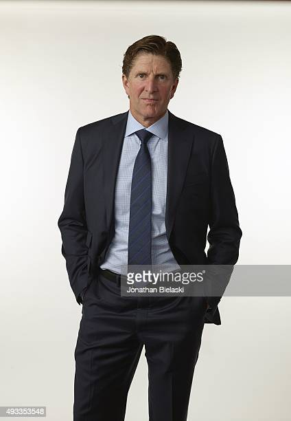 NHL Season Preview Portrait of Toronto Maple Leafs head coach Mike Babcock during photo shoot at MasterCard Centre for Hockey Excellence Toronto...
