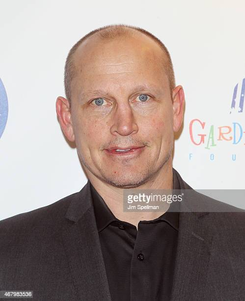 Hockey player Adam Graves attends the 2015 Garden Of Laughs Comedy Benefit at the Club Bar and Grill at Madison Square Garden on March 28 2015 in New...
