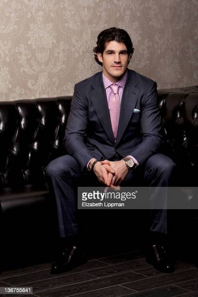 Hockey player Brian Boyle from the New York Rangers is photographed for New York Post on November 17 2011 in New York City PUBLISHED IMAGE