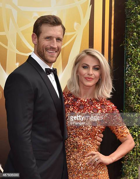 Hockey Player Brooks Laich and Fiancee Julianne Hough attend the 2015 Creative Arts Emmy Awards at Microsoft Theater on September 12 2015 in Los...