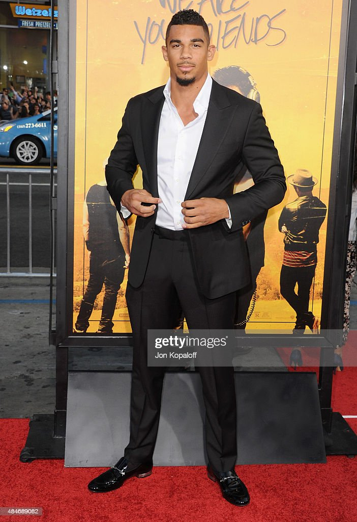 NHL hockey player Evander Kane arrives at the Los Angeles Premiere 'We Are Your Friends' at TCL Chinese Theatre on August 20, 2015 in Hollywood, California.