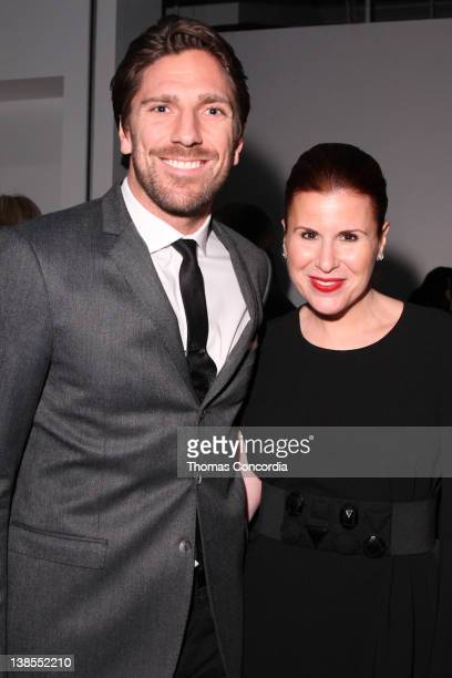 Hockey player Henrik Lundqvist and Aliza Licht Senior Vice President of Global Communications of Donna Karan International attend the DKNY Men Fall...