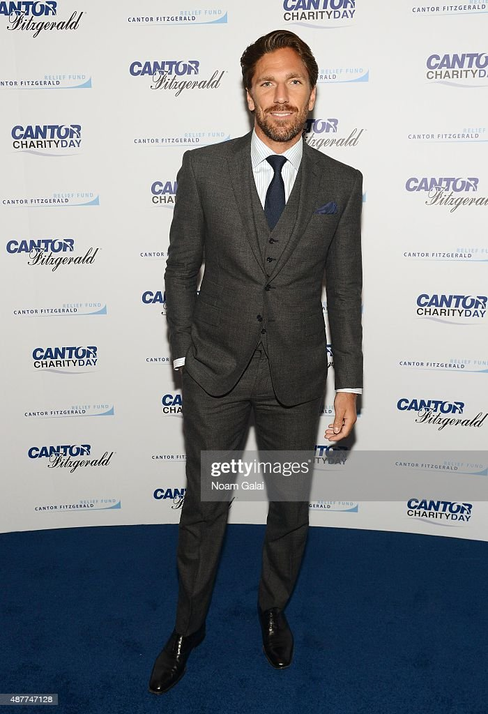 Hockey player <a gi-track='captionPersonalityLinkClicked' href=/galleries/search?phrase=Henrik+Lundqvist&family=editorial&specificpeople=217958 ng-click='$event.stopPropagation()'>Henrik Lundqvist</a> attends the annual Charity Day hosted by Cantor Fitzgerald and BGC at Cantor Fitzgerald on September 11, 2015 in New York City.